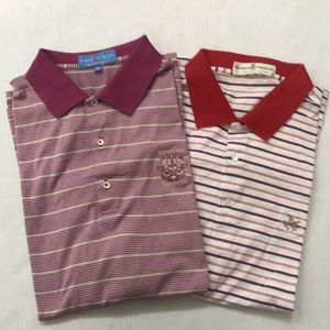 Fairway & Greene Stripe Golf Polo Shirt Bundle
